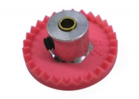 "PARMA Crown gear, 48 pitch 28 teeth, 1/8"" axle with hub adaptor 3/32"", Ø17.7 mm,  with screw - PAR#70147"