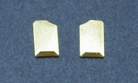 CAHOZA BRASS GUIDE CLIPS SHORT, pair - #29