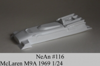 "NeAn Clear body Retro Formula 1/24 McLaren M9A 1969, Lexan .010"" (0.254 mm) - #116-L"