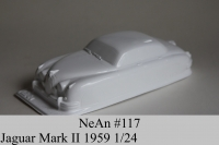 "NeAn Clear body Retro 1/24 Jaguar Mark II 1959, Lexan .010"" (0.254 mm) - #117-L"