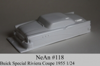 "NeAn Clear body Retro 1/24 Buick Special Riviera Coupe 1955, Lexan .025"" (0.635 mm) - #118-L"