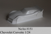 "NeAn Clear body Production 1/24 Chevrolet Corvette, Lexan .007"" (0.175 mm) - #151-L"