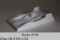 "NeAn Clear body Eurosport 1/24 Zitec 04 S, Lexan .007"" (0.175 mm) - #156-L"
