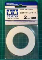 TAMIYA Masking tape for curves, width 2 mm - #TAM87177