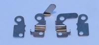 CAHOZA Aluminium nickel plated brush hoods, 1 bag (6 pairs) - #266