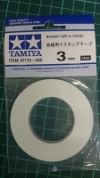 TAMIYA Masking tape for curves, width 3 mm - #TAM87178