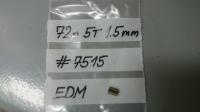 VITULA Pinion 72 PITCH, 5T, EDM, 0° angle, 1.5 mm bore - #7515