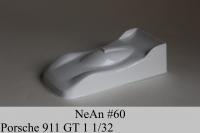 "NeAn Clear Production 1/32 Porsche 911 GT1 body, PVC thickness .008"" (0.2 mm), w/paint masks — #60-P"