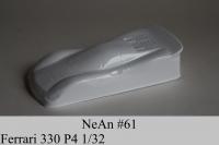 "NeAn Clear Production 1/32 Ferrari 330 P4 body, Lexan thickness .007"" (0.175 mm), w/paint masks - #61-L"