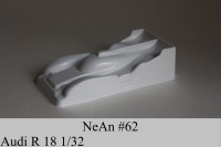 """NeAn Clear Production 1/32 Audi R18 body, Lexan thickness .005"""" (0.125 mm), w/paint masks  - #62-LT"""