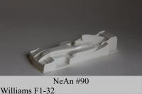 """NeAn Clear body Formula 1/32 Williams F1, Lexan .005"""" (0.125 mm) - #90-LT"""