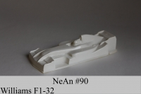 "NeAn Clear body Formula 1/32 Williams F1, Lexan .007"" (0.175 mm) - #90-L"