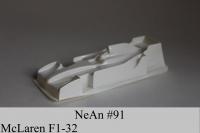 "NeAn Clear body Formula 1/32 McLaren F1, Lexan .005"" (0.125 mm) - #91-LT"