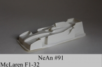 "NeAn Clear body Formula 1/32 McLaren F1, Lexan .007"" (0.175 mm) - #91-L"
