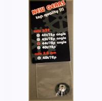 "ATTAN GEAR 72 PITCH 44T, 16° angle, 3/32"" axle - #ATT724416"