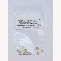 "CAHOZA ARM (2 mm) SPACER BRONZE .007"" (0,18 mm), 24 psc. - #37"