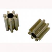 PARMA PINION GEAR 48 PITCH, 7T, BRASS (This is press-on style pinion gear) - 1 Pc - #520BP