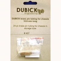 DUBICK Precut Brass pin tubes, length 10.8 mm, storage tube (24 pcs.) - #DB407