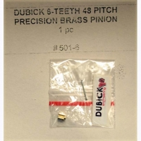 DUBICK Pinion gear 48 pitch, 6T, 2 mm bore, brass (This is press-on style pinion gear) - #DB501-6
