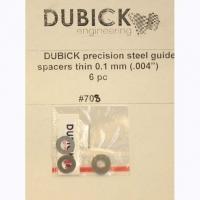 """DUBICK .004"""" (0.1 mm) Precision steel guide spacers, 6 pcs. - #DE708"""