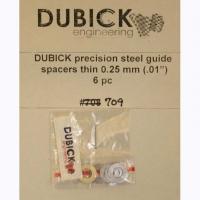 """DUBICK .01"""" (0.25 mm) Precision steel guide spacers, 6 pcs. - #DE709"""