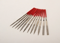 ZHB SET OF SMALL STEEL FILES W/DIAMOND COATING, 12 pcs.