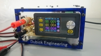 Dubick Egineering Power supply with the ability to accurately adjust the amperage and voltage.  The range of voltage regulating from 0 to 15 Volts and amperage from 0 to 12 Amperes.  The adjustment accuracy is up to 0.01 both voltage and amperage.  Ability to work from 110 and 220 volts.  USB Charger.  Wires are attached.  Weight 850 Grams.  Dimensions: 122 x 70 x 208 mm.