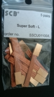 SCB braids SUPER SOFT LONG (sizes: 4,00 x 0,50 mm х 32 mm), 5 pair - #SSCU01100/L