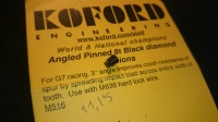 KOFORD PINION GEAR 64PITCH, 8T , 3° ANGLE, 2 mm bore, anodized, selection, black