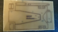 "INTECHNO KIT FOR BUILD CHASSIS ""TEAPOT"" 1/24 ""STANDART"". SHEET 100 x 200 mm, thick. 1,5 mm, w/drawing of chassis details - #IR11"