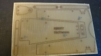 "INTECHNO KIT FOR BUILD CHASSIS ""TEAPOT"" 1/24. SHEET 100 x 200 mm, thick. 1,5 mm, w/drawing of chassis details - #IR05"