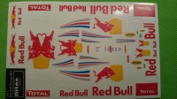 ATTAN RED BULL RACING F1 RB8 2012 STICKER, sheet for 4 bodies, w/cut outline, sheet 167 х 110 mm