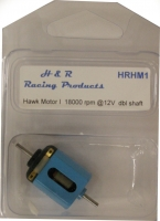 H&R Hawk motor I 18,000 rpm @12V- double shaft - #MH1