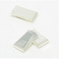 JK silver plated copper guide clips, long, pair - U28
