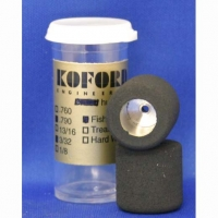 "KOFORD MODEL WHEELS  KOFORD FISH 3/32"" AXLE, 20MM WIDTH, ON DURALUMIN RIMS, pair - #M526-760-3F"