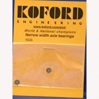 "KOFORD Axle ballbearing 3/32"" (2.36 mm), narrow width, open, ultralight, pair - #M235"