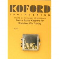 "KOFORD BRASS KEEPERS, inner dia. .05"" (1.28 mm), lenght 5.1 mm, 1 pc. - #M303-1"