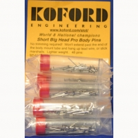 KOFORD SHORT BIG HEAD BODY PINS (STRAIGHT), 48 psc. in tube - #M545