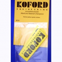 Koford Yellow spoiler sticker, 1 pc. - #M719