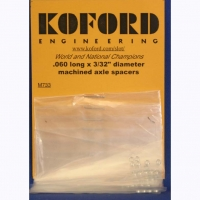 "KOFORD 3/32"" (2.36 mm) .060"" (1,52 mm) thick machined aluminum axle spacer, 6 psc. - #M733"