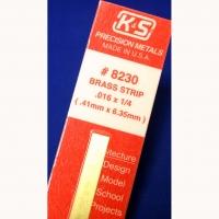 "K&S Brass strip .016"" x 1/4"" x 12"" (0.41 mm x 6.35 mm x 300 mm) - #KS8230"
