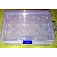 KOLHOZA WHEEL STORAGE PLASTIC BOX Ø23.5 мм (JK, Alpha), (167 х 122 х 59 mm) - KZA027