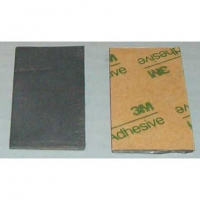 "LUCKY BOB Lead sheet thickness .063"" (1,6 mm), 2"" x 1"" (50,8 x 25,4 mm) with a adhesive tape - #LB1063"