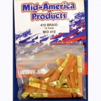 MID AMERICA 410 dimpled braid, pair - #MID410