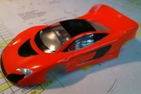 BOLID PRODUCTION 1/32 MCLAREN 650S GT3 BODY, LEXAN, thickness 0.125 mm, w/paint masks - #6564-LT