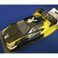 "OLEG Custom Painted Body Production 1/24 Audi RS5 DTM PLAYBOY BUNNY, Lexan .005"" (0.125 mm) - #0121AT"