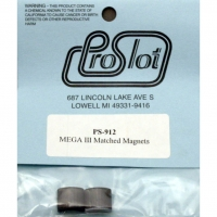 PROSLOT MEGA III MATCHED MAGNETS FOR C-CANS (X-12), pair - #PS912