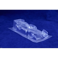 "REDFOX Clear body F1 JRL Hallo Ferrari Formula 1/24, Lexan, thin .007"" (0.175mm) - #RFSC105C"
