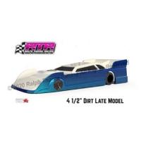 "RALPH THORNE Clear Body 4.5"" Dirt Oval Dirt Late Modified, Lexan .007"" (0.175 mm) - #DLM007"