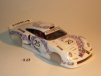 "BOLID ""TEAPOT"" 1/24 PORSCHE 911 GT1 1996 BODY, PVC, thickness 0.4 mm - #6510-P"